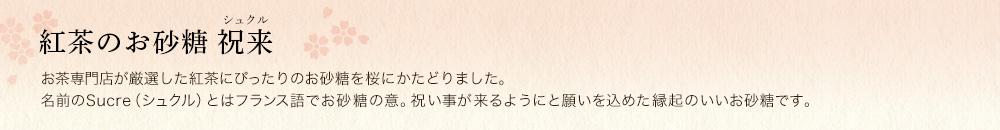 紅茶のお砂糖 祝来(シュクル)