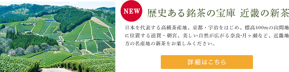 歴史ある銘茶の宝庫 近畿の新茶