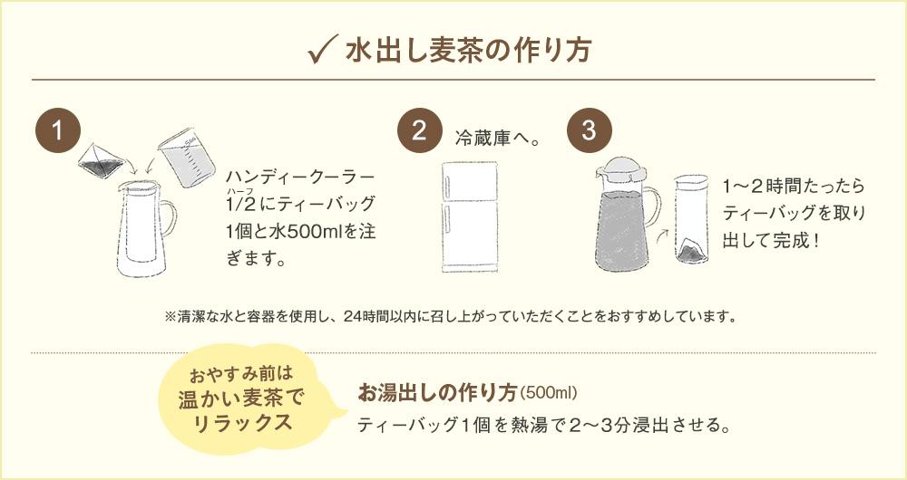 水出し麦茶の作り方