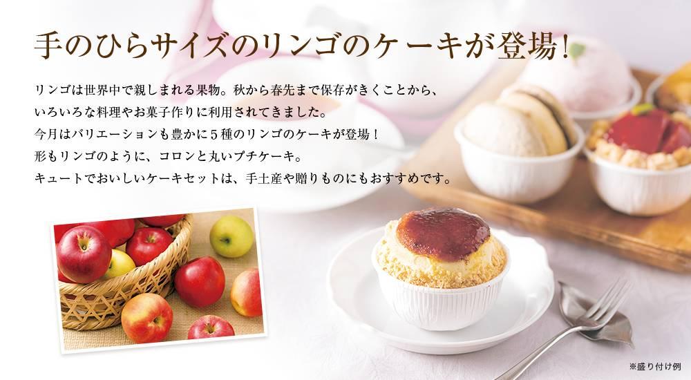 リンゴのケーキ5種セット