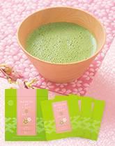 宇治抹茶と桜のハーモニー 桜の抹茶・オ・レ