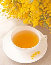 春の訪れを告げる花・ミモザをイメージしたお茶