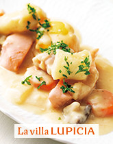 秋鮭とキタアカリニョッキの クリームシチュー