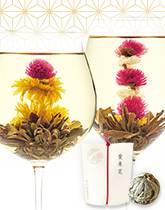華やかに咲く工芸茶(テ マリ)