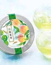 夏は冷茶で涼やかに 白桃煎茶