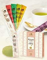 粉末のお茶「バトン」シリーズに白桃煎茶が登場!