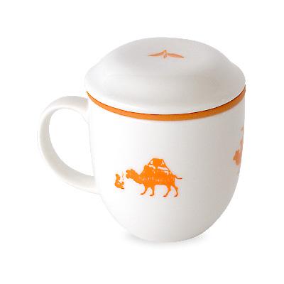 茶こしマグ・オレンジ