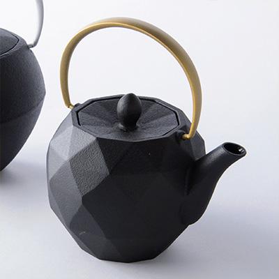 KEN OKUYAMA DESIGN 南部鉄瓶 ティーポット オリガミ ゴールド