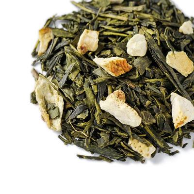 緑茶とお菓子「ジョーヌ」