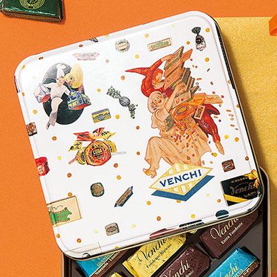 ヴェンチ 140周年アニバーサリーメタル缶 ホワイト