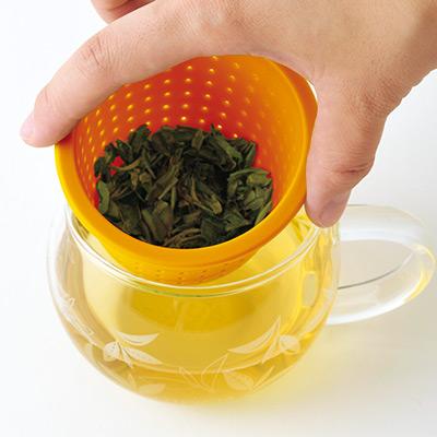 茶こしマグ モンポット・オレンジ