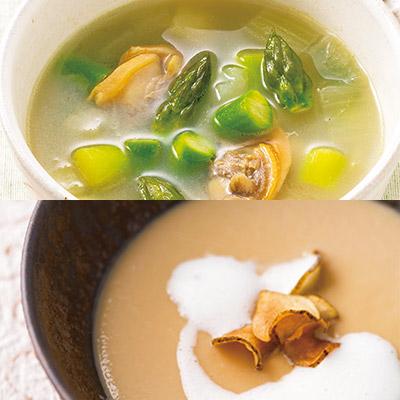 スープとミニ食パンのセット