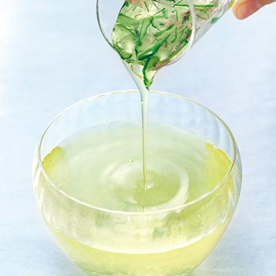 日本茶2種とスイーツ「清明」(月ヶ瀬)