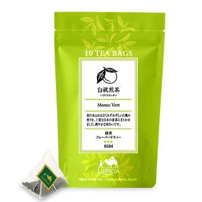 8284 白桃煎茶 ティーバッグ10個パック入