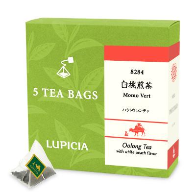 8284 白桃煎茶 ティーバッグ5個BOX入