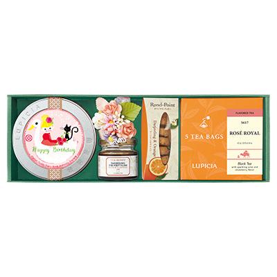 紅茶2種とお菓子「ジョイ」
