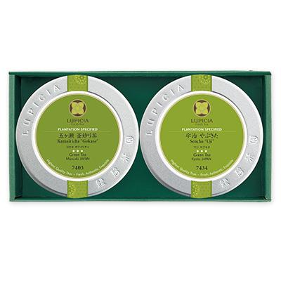 【弔事用ギフト】日本茶2缶詰め合わせ 「母子草(ははこぐさ)」