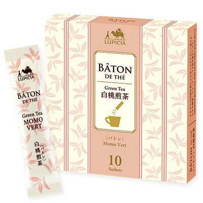 バトン 白桃煎茶  スティック10本BOX入