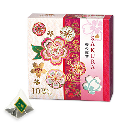 サクラ ティーバッグ10個 限定デザインBOX入