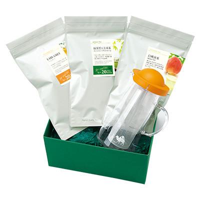 お茶3種と茶器「サマーバラエティー」