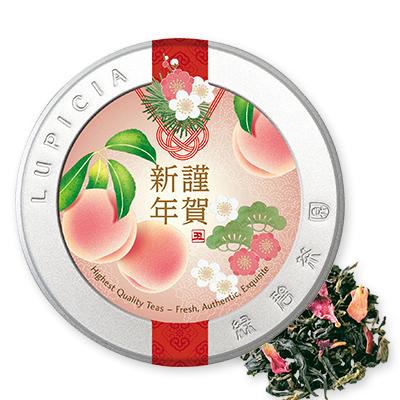 白桃烏龍 極品 30g福桃ラベル缶入