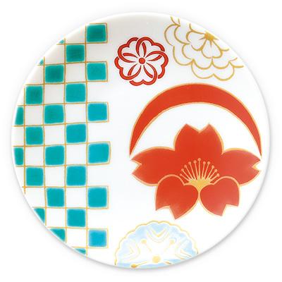 オリジナル 豆皿 桜紋市松
