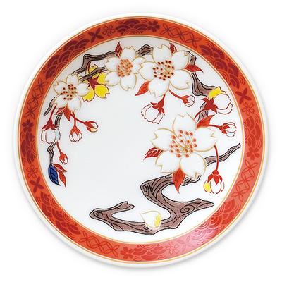 オリジナル 豆皿 桜絵図 紅(べに)