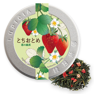 とちおとめ 〜苺の緑茶〜 50gデザイン缶入