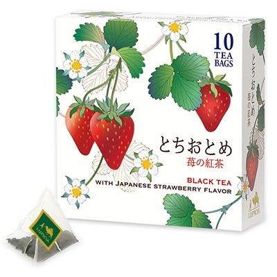 とちおとめ 〜苺の紅茶〜 ティーバッグ10個限定デザインBOX入