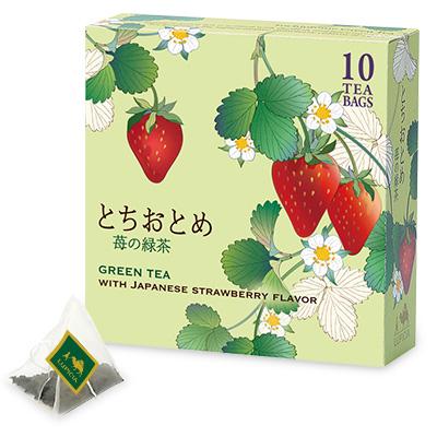 とちおとめ 〜苺の緑茶〜 ティーバッグ10個限定デザインBOX入