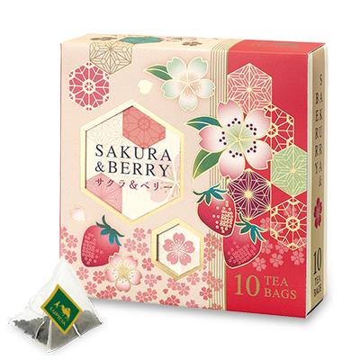 サクラ&ベリー ティーバッグ10個 限定デザインBOX入