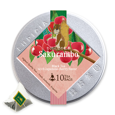 サクランボ ティーバッグ10個限定デザイン缶入