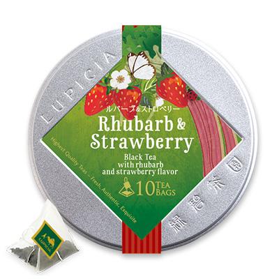 ルバーブ&ストロベリー ティーバッグ10個限定デザイン缶入