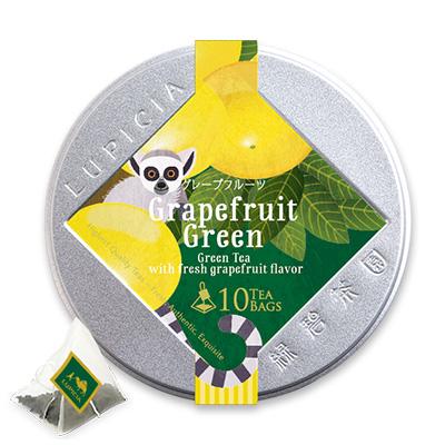 グレープフルーツ(緑茶) ティーバッグ10個限定デザイン缶入