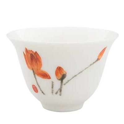 白磁 茶杯 蓮