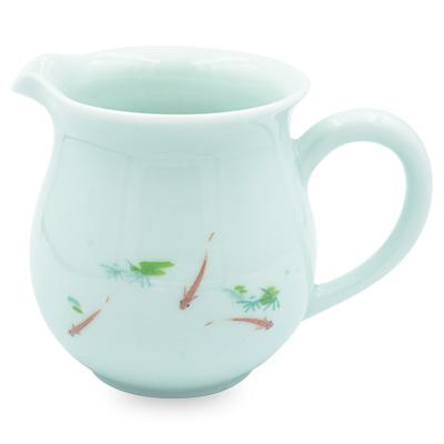 青磁 茶海 浮魚