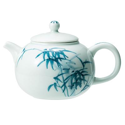 白磁 茶壺 青花
