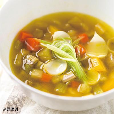 冬の根菜スープ