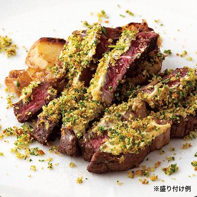道産牛ステーキの香草パン粉焼き