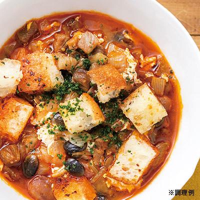 4種の豆のにんにくスープ