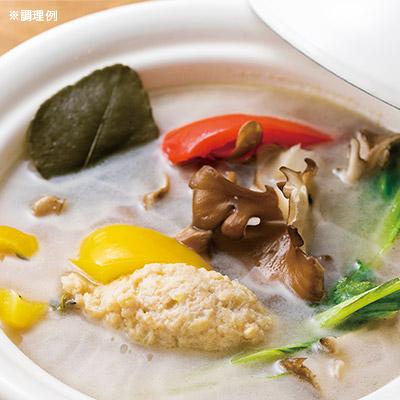 爽やかレモンの鶏白湯(トリパイタン)ハーブ鍋