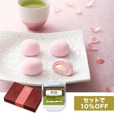 桜ましゅまろと日本茶