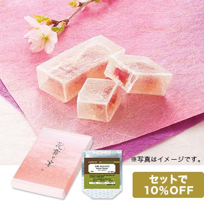 桜の琥珀(こはく)と日本茶