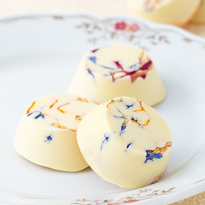 soraka 秋色のエディブルフラワーチョコクッキー