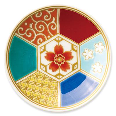 オリジナル 豆皿 桜亀甲(さくらきっこう)