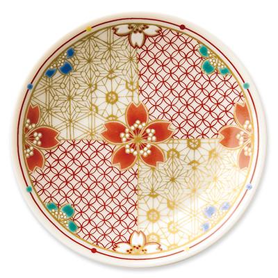 オリジナル 豆皿 桜組子(さくらくみこ)