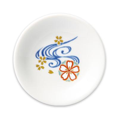 オリジナル 豆小皿 桜流水(さくらりゅうすい)