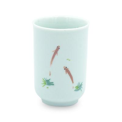 青磁 聞香杯 浮魚