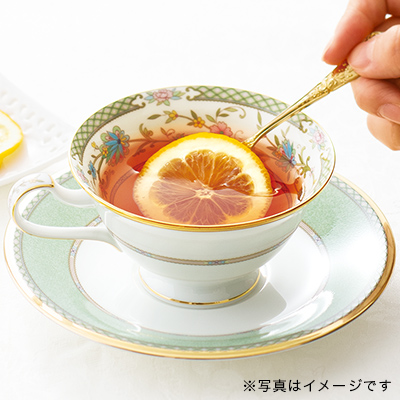 ヨシノ ティー・コーヒー碗皿(グリーン)