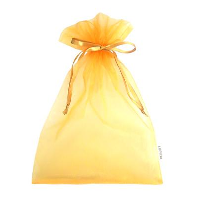 オーガンジー巾着袋 ゴールド